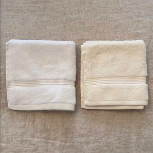 Set of 2 Hudson Park Washcloths - 1 White, 1 Ivory